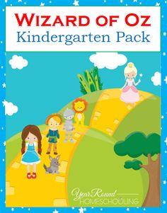 Free Wizard of Oz Kindergarten Pack -