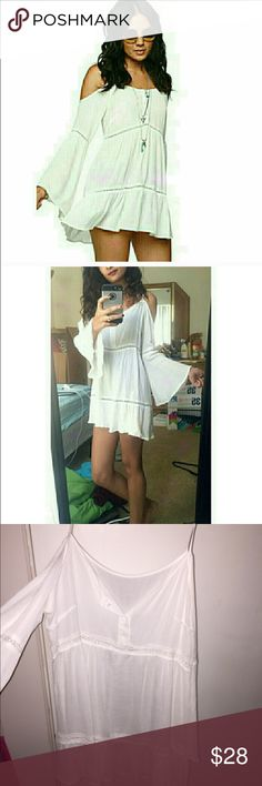 Boho cold shoulder dress Re pushing because it doesn't fit!! Brandy for exposure Brandy Melville Dresses Long Sleeve