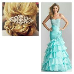 going grad dress shopping tomorrow! hope to find this color.... love the hair tooooO!