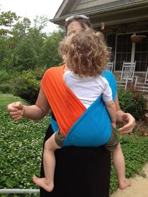 No-Sew Baby K'tan Wrap Style Carrier from Three Men's T-shirts