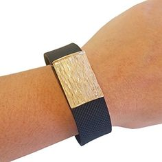 Charm to Accessorize the Fitbit Charge and Other Fitness Trackers  The NATURAL BEAUTY Textured Gold Charm to Dress Up Your Favorite Fitness Tracker Gold Fitbit Flex *** Continue to the product at the image link.