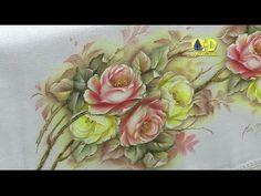 Vida com Arte | Pintura adesivada motivo rosas amarelas por Luís Moreira - 28 de Setembro de 2015 - YouTube