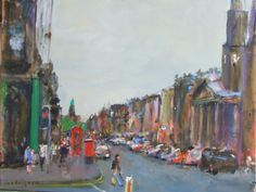 George Street, Edinburgh by Malcolm Ludvigsen | Artfinder