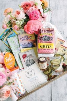 Wedding welcome baskets are more fabulous than ever. Whether you are throwing a destination wedding or hosting out-of-town guests, show your appreciation with a basket of gourmet goodies!