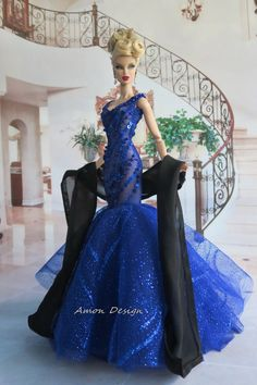 Amon Design Gown Outfit Dress Fashion Royalty Silkstone Barbie Model Doll FR in Dolls & Bears, Dolls, Clothes & Accessories | eBay