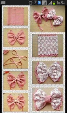 Diy Bow, Diy Hair Bows, Diy Ribbon, Ribbon Crafts, Ribbon Bows, Ribbons, Handmade Hair Bows, Ribbon Flower, Diy Flower