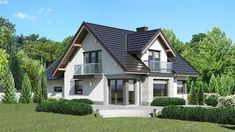 Flat House Design, Modern House Design, House Designs In Kenya, House Architecture Styles, Modern Bungalow House, Architectural House Plans, Micro House, Sims House, Exterior House Colors