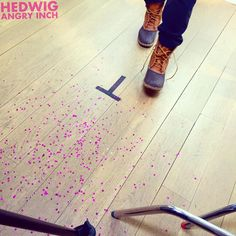 """darrencriss: Steppin into it… @hedwigonbway hedwigonbway: Regram from @darrencriss """"Steppin into it…#hedwigonbway"""". A tease from our photoshoot.#DarrenCriss begins April 29 hedwigonbroadway: Darren Criss had a photoshoot. Glitter was involved. Stay tuned.."""