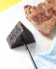 Barbecue Steak Stamp // Let everyone know exactly whose steak is who's with this fun barbecue stamp from Luckies. With three sides showing rare, medium rare and well done written with Luckies very-own twist, this iron makes a great gift for any quirky griller.