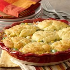This gluten-free version of the classic chicken pot pie features a sage-infused chicken and vegetable filling and a gluten-free dumpling topping.