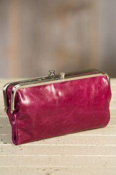 hobo lauren leather clutch wallet double frameleather - Double Frame Clutch Wallet