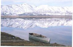 The beautiful Marivan Lake in Kurdistan, western Iran.