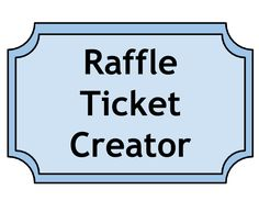 oversized raffel ticket | Large Raffle Ticket Sign for Kenny's ...