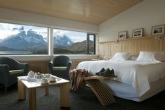 Hotel Salto Chico, in Patagonia, is located right at the heart of Torres del Paine National Park ALWAYS. maximize the view Top Hotels, Hotels And Resorts, Best Hotels, Luxury Hotels, Patagonia Hotel, In Patagonia, Hotel Bed, Hotel Suites, Park Hotel
