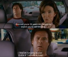 Even if there is a fire! Hahaha my siblings and I quote this movie on a regular basis :P