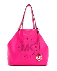 An instant mood-lifter. MICHAEL Michael Kors Large Perforated-Logo Grab Bag.