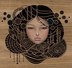 Find the latest shows, biography, and artworks for sale by Audrey Kawasaki. Influenced by manga comics and Art Nouveau, Audrey Kawasaki creates delicate figu… Audrey Kawasaki, Illustrations, Illustration Art, Art Nouveau, Hi Fructose, Arte Pop, Pop Surrealism, Art Graphique, Beautiful Paintings