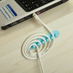 Hottest 1pair Cable Winder Plug Holder Cable Organizer Management Desk Wire Storage Device Novel Design; In