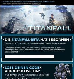 Titanfall Beta Key (XBOX One)