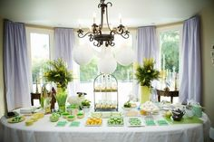 Baby shower tables