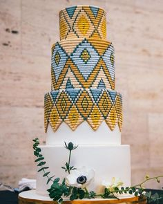 Sweet Heather Anne truly creates magic with her bare hands! Ethiopian basket weaving inspired cake with royal icing! How many of you would love to have this cake on your big day? African Wedding Cakes, African Wedding Theme, Black Wedding Cakes, Beautiful Wedding Cakes, Beautiful Cakes, African Weddings, Dream Wedding, African Traditional Wedding, Traditional Wedding Cakes