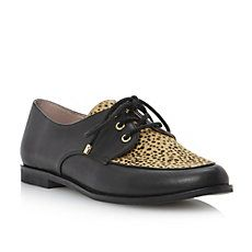 LIBERAL - Leather And Pony Material Lace Up Loafer