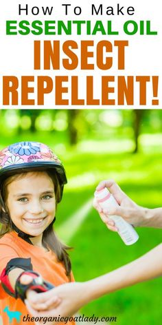 How To Make Essential Oil Insect Repellent! The best essential oil recipe to make your own natural insect repellent!