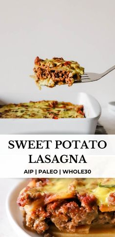 Paleo Dinner, Healthy Dinner Recipes, White Sweet Potato Recipe, Paleo Ground Beef, Potato Lasagna, Paleo Recipes, Paleo Ideas, Soup Recipes, Whole 30 Recipes