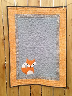 Hey, I found this really awesome Etsy listing at https://www.etsy.com/listing/222568334/made-to-order-fox-baby-quilt