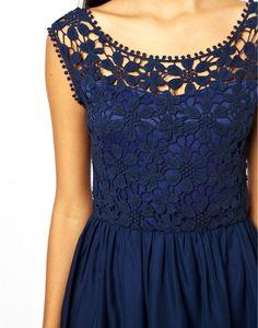 платье синее с отделкой лифа ирл.кружевом из цветов (474x604, 222Kb)