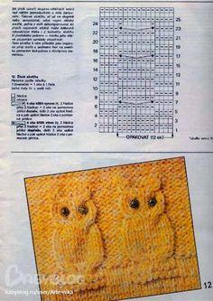 """Delicadezas en crochet Gabriela: Gorro en dos agujas de bebé patrón búho para ver dar clic es de la """"Web"""""""