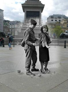 Then and now.#TrafalgarSquare. #london.