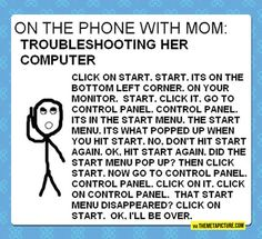Helping Mom Over The Phone
