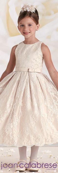 Joan Calabrese for Mon Cheri  - Style No. 115325 #flowergirldresses  calabresegirl.com