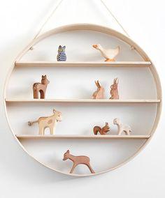 Circle Shelf, white ash 50cm