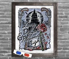 """Stephen King's Dark Tower - Illustrated 3D Poster with included red/blue glasses. """"Long Days & Pleasant Nights (and may you have twice the number)"""".    Archival giclee print, signed by the artist. Original Illustration ©Brad Albright 