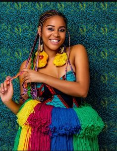 """""""Here's an African Goddess who's always taken pride in her language and her culture. Thank you for consistently putting Xitsonga on the world map. What a QUEEN! Best Poses For Men, Good Poses, African Attire, African Wear, South African Traditional Dresses, African Goddess, Braids For Black Women, Iconic Women, African Beauty"""