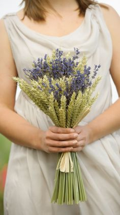 ShropshirePetals.com Medium Wheat Sheaf with Lavender from £10