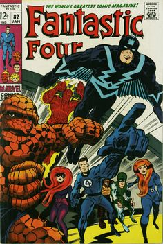 Fantastic Four (vol.1) #82 by Jack Kirby -- Black Bolt flying in his winged suit