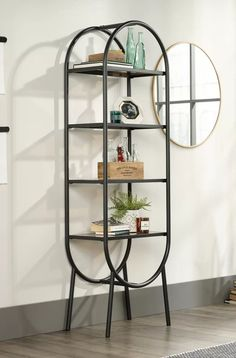 Glass Shelves In Kitchen Window Code: 8139237937 Shelf Furniture, Iron Furniture, Upcycled Furniture, Home Furniture, Furniture Design, Glass Wall Shelves, Glass Shelves Kitchen, Metal Shelves, Display Shelves