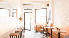 the 20 best - and buzziest - healthy restaurants in NYC right now (June Restaurant New York, Cafe Restaurant, Restaurant Design, Restaurants In Nyc, Cafeteria Table, Brunch Nyc, Visit New York City, Cafe Design, New York Fashion