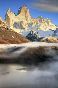 Monte Fitz Roy above Laguna Capri  Los Glaciares National Park, Patagonia