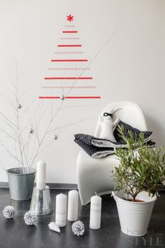 Alternatieve kerstboom van tape