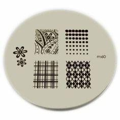 Amazon.com: Konad Nail Art - Stamping Image Plate - M60: Beauty