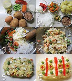 ロシア風ポテトサラダ(エンサラディージャ・ルサ):スペイン料理簡単レシピ集