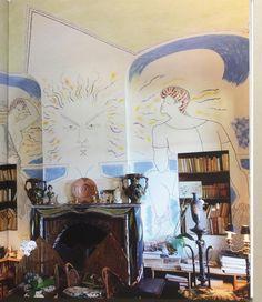 Jean Cocteau - les murs tatoués  Sublime book from Villa Santo-Sospir, Saint-Jean-Cap-Ferrat. A rare look inside a dream house.