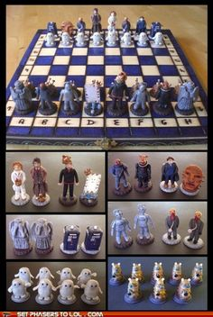 Doctor Who Chess set.. yes please!