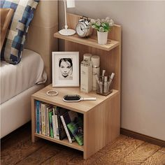 Simple Bedside Table Dressing Cabinet Bedroom Locker Multi-function Side Cabinet Bedside Locker Storage Cabinets Nightstand - Bed and Bedcover Apartment Furniture, Home Furniture, Cheap Furniture, Furniture Cleaning, Wooden Furniture, Antique Furniture, Furniture Stores, Furniture Ideas, Cabinet Furniture