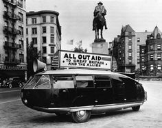 Buckminster Fuller's Dymaxion car c1930