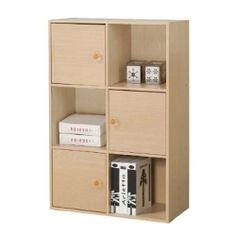 FURINNO 3-Tier Bookcase Storage Shelves Cabinet with 3 Door/Round Handle , Steam Beech by Furinno, http://www.amazon.com/dp/B007BQGLTA/ref=cm_sw_r_pi_dp_Qw6Tqb1HTSYAK